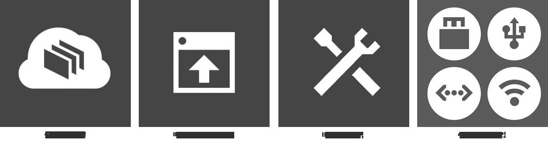 클라우드 연결, 메이커봇 소프트웨어, 비주얼 피드백, 4가지 연결 방법 이미지